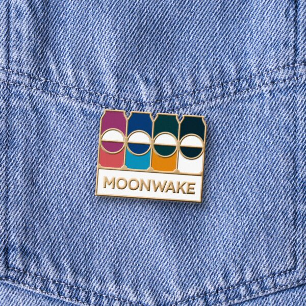 Moonwake Enamel Pin Badge